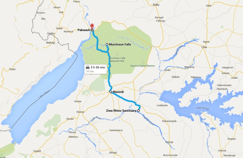 14_Uganda_Ziwa Rhino - Masindi - Murchison Falls NP - Pakwach  (9. dan)