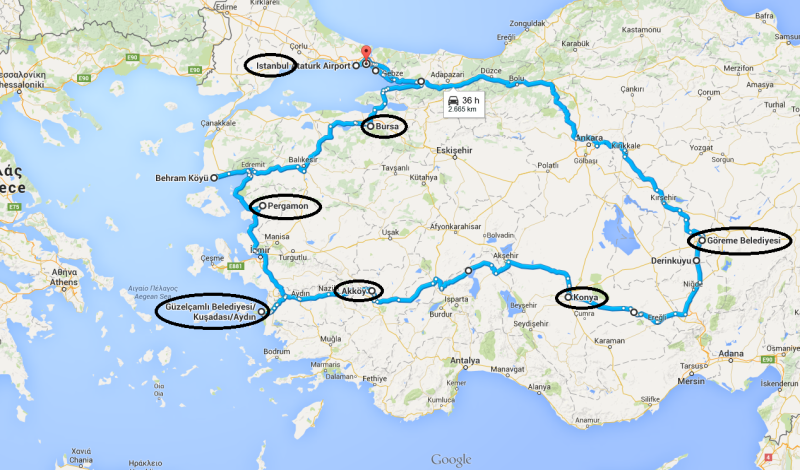 Turčija cela pot