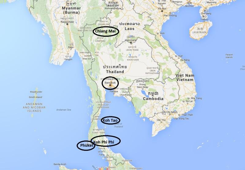 Tajska - celo potovanje